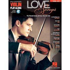 Hal Leonard Violin Play-Along Love Songs