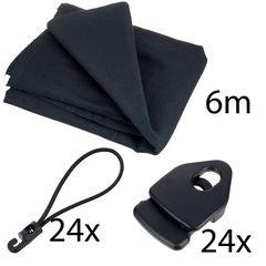 Stairville Euro Molton Set Black 6x 3 m