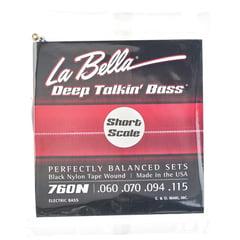La Bella 760N-S Black Nylon Tape