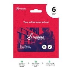music2me Guitar Subscription 6 Months