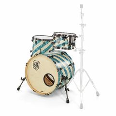 SJC Drums Custom Studio Turquoise Barb.