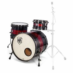 SJC Drums Custom Rock Satin Stain & Red