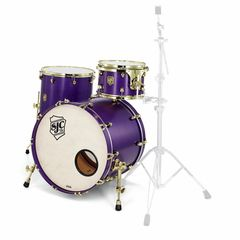 SJC Drums Custom Stage set Purple brass