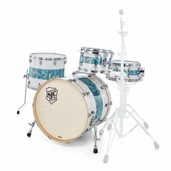SJC Drums Custom 4-piece White Turqouise