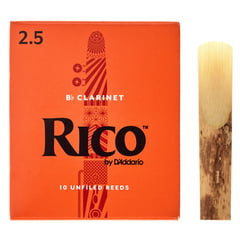 DAddario Woodwinds Rico Bb- Clarinet 2,5 Boehm