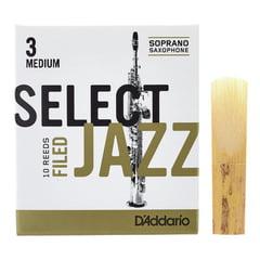 DAddario Woodwinds Select Jazz Filed Soprano 3M