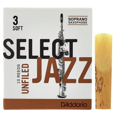 DAddario Woodwinds Select Jazz Unfiled Soprano 3S