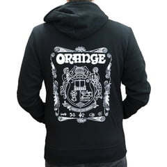 Orange Hoody Logo Black M