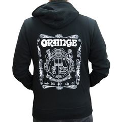Orange Hoody Logo Black S