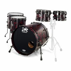 DR Customs Rock Set Black Red Splatter