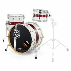 DR Customs Shell Set White Pearl with Red
