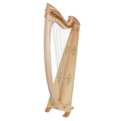 Salvi Una Deluxe Lever Harp Natural