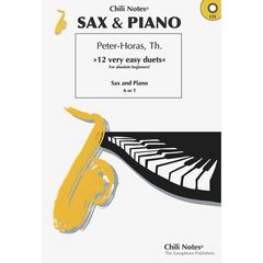 Musikverlag Chili Notes Sax & Piano-12 very easy duets