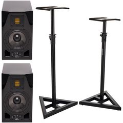 Adam A5X Glossy Black Stand Bundle