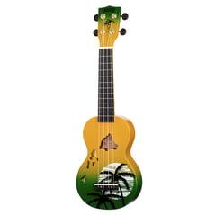Mahalo Hawaii Green Ukulele