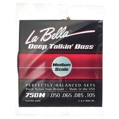 La Bella 750N-M Black Nylon