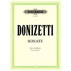 Edition Peters Donizetti Sonate Flute C-Dur