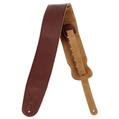 Levys Garment Leather Bass Strap BRN