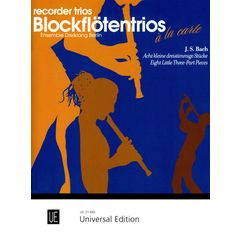 Universal Edition Bach Eight Little Pieces Rec.