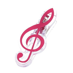 agifty Music Clip Violin Clef Pink