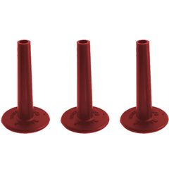 No Nuts Cymbal Sleeves 3-PK Red