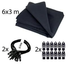 Stairville Euro Molton Set Black 6x3m