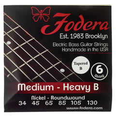 Fodera 6-String Set Ni Med Heavy B TB