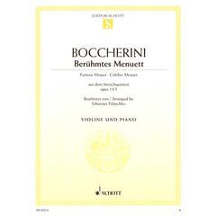 Schott Boccherini Menuett Violin
