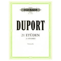 Edition Peters Duport 21 Etüden Cello