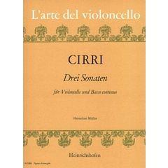 Heinrichshofen's Verlag Cirri Drei Sonaten Cello
