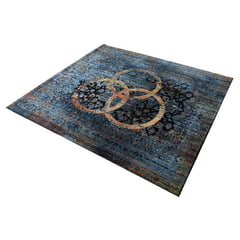 Drum N Base Vintage Drum Rug Blue