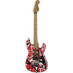 Evh Frankie Striped MN Relic R/W/B
