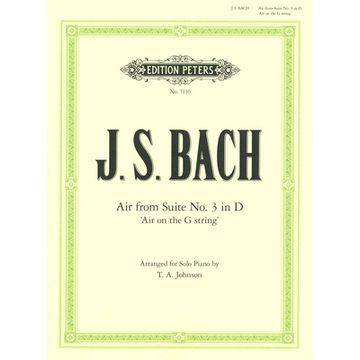 Edition Peters Bach Air D-Dur Klavier