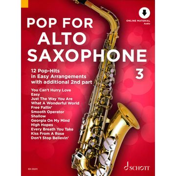 Schott Pop For Alto Saxophone 3