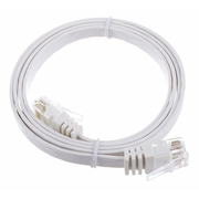 Lindy Cat6 Flach-Cable 1m White