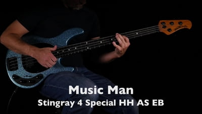 Music Man Stingray 4 Special HH Aqua Sparkle