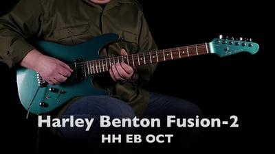 Harley Benton Fusion-II HH EB Ocean Turquoise Pro Serie