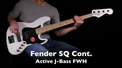 Fender Squier Contemporary Active Jazz Bass HH Flat White
