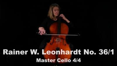 Rainer W. Leonhardt No. 36/1 Meistercello 4/4