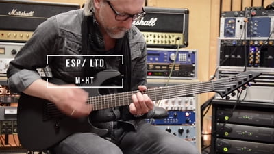 ESP LTD M-HT Black Metal Black Satin