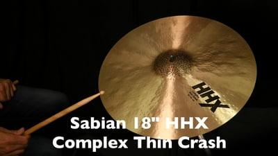 Sabian 18 HHX Complex Thin Crash