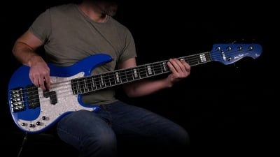 Harley Benton Enhanced MP-5EB Lake Blue Pro